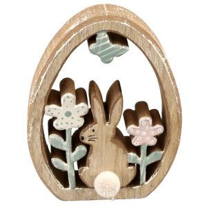 Velikonoční dřevěná dekorace Vajíčko, 9,5 x 13 x 2 cm