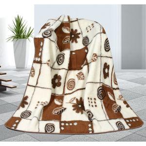 Vlněná deka Variace, 155 x 200 cm